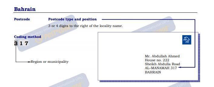 Zip postal code manama bahrain