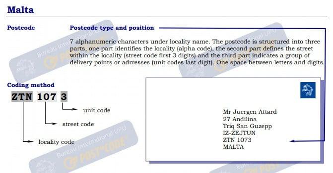 Malta - Postal Code   Post Code   Postcode   ZIP Code ✉️